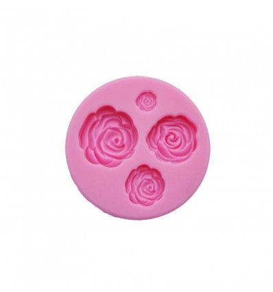 Molde silicona 4 rosas