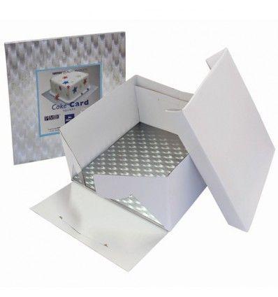 Caja y bandeja cuadrada 25x25x15