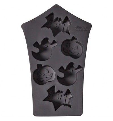 Molde silicona Halloween,Fantasma,calabaza y murciélago,6 Cav