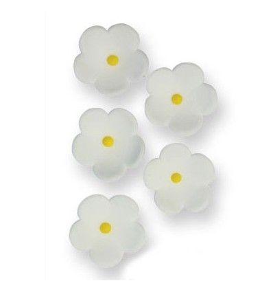 Flores de azúcar medianas Blancas, 30Ud