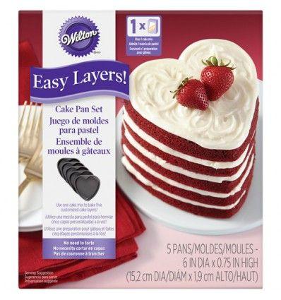 Moldes corazón para Layer Cakes, 5 Ud
