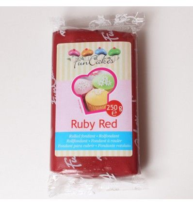 Fondant Funcakes Ruby Red 250gr