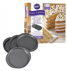 Moldes 4 capas Layer Cakes, 20 cm