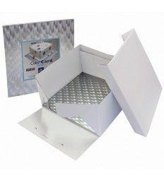 Caja con bandeja Cuadrada 30x30x15 cm