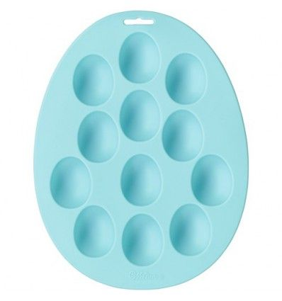Molde silicona huevos,12 cavidades