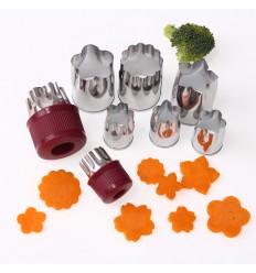 Cortadores para fruta y verdura,8 Ud
