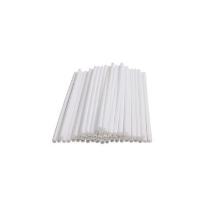 Palos de plástico para piruletas de chocolate 13.50 cm, 50 ud.