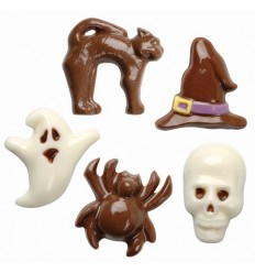 Molde para chocolate Halloween,5 formas