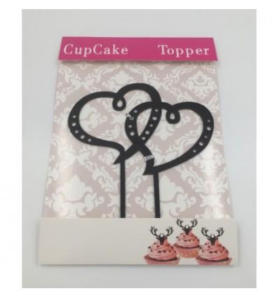 Silueta Corazones Cake topper