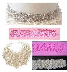 Molde silicona collar de Perlas