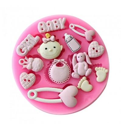 Molde silicona cosas bebé Girl