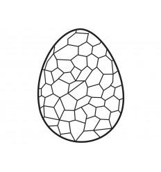 Molde Medio huevo Pascua 17x12 cm Cocodrilo