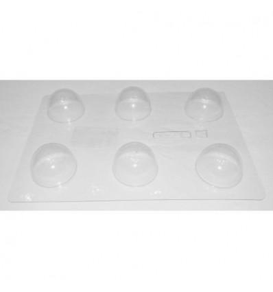 Molde PVC Semiesfera 4.1 cm, 6 Cavidades