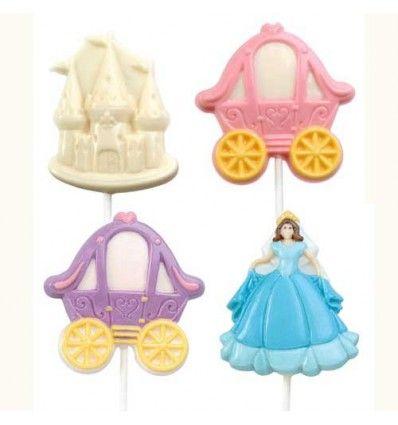 Molde princesas piruletas chocolate