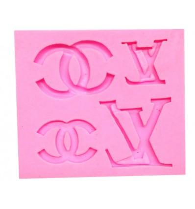 Molde Silicona Louis Vuitton y Chanel