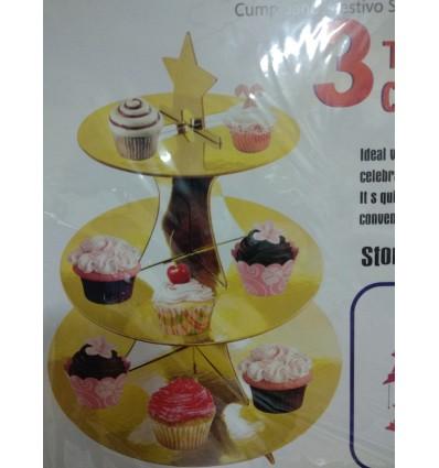 Stand Oro para Cupcakes