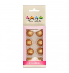 PERLAS-BOLAS DE CHOCOLATE ORO-SET 8