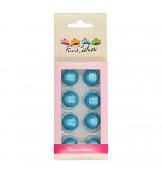PERLAS-BOLAS DE CHOCOLATE AZUL- SET 8