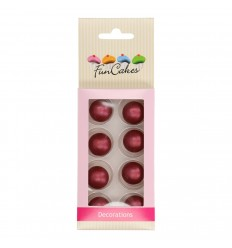 PERLAS-BOLAS DE CHOCOLATE RUBI- SET 8