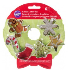 Set 6 Mini-cortadores Galletas Wilton Formas Navidad