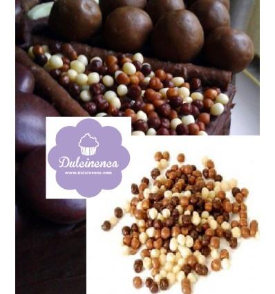 Bolitas Topping tres chocolates