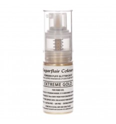Sugarflair Pump Spray Glitter Dust -Extreme Gold