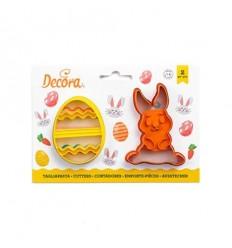 Set cortadores Conejo y huevo Pascua