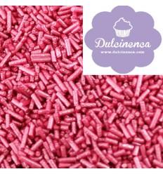 Fideos de Azúcar Rosa fuerte Metalizado, 80 gr