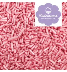 Fideos de Azúcar Rosa Metalizado, 80 gr
