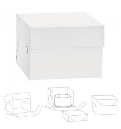 Caja FINA RECTANGULAR para tartas 23X30.5X15 CM
