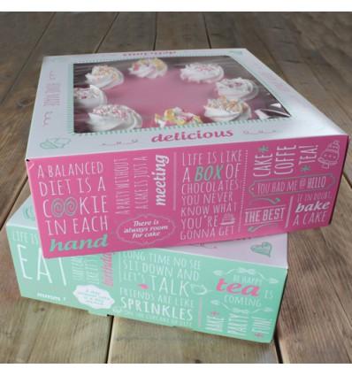 Caja para Tartas Diseño Quotes - 21x21x9cm