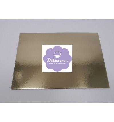 Base rectangular Dorada para pastel 34x45 cm