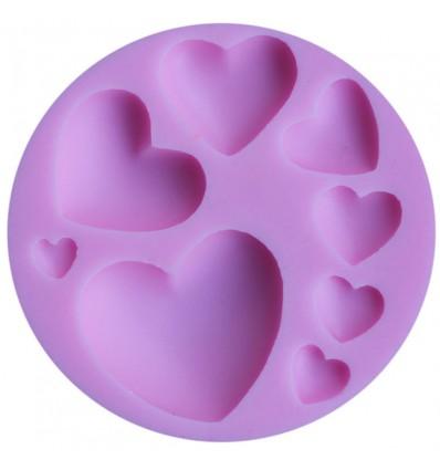 Molde silicona varios corazones
