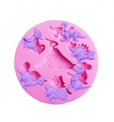 Molde silicona dinosaurios