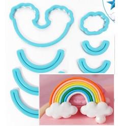 Cortadores arco iris y nubes