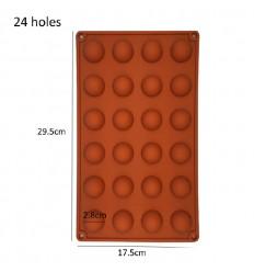 Molde de silicona semi esferas 2.8 cm