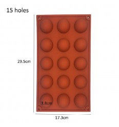 Molde de silicona semi esferas 3.8 cm