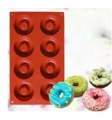 Molde dilicona donuts o rosquillas, 6 cavidades