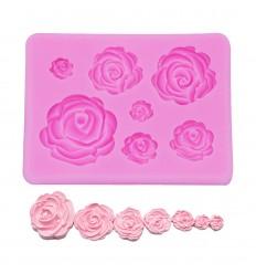 Molde silicona flores(Rosas) varios tamaños