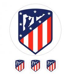 Impresión en Oblea. Atlético de Madrid Ø20