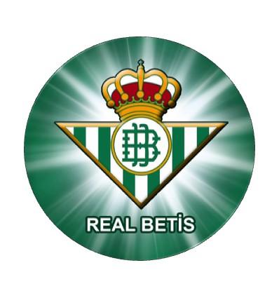 Impresión en Oblea. Betis Ø20