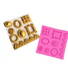 Molde silicona Barroco joyas y marco nº12