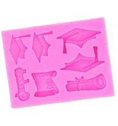 Molde silicona diploma Graduación
