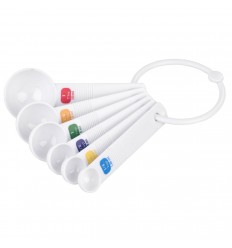 Cucharas Medidoras de Plástico, 6 u