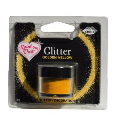 Edible Glitter -Golden Yellow- 5g Purpurina comestible oro