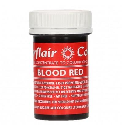 Sugarflair Colorante en Pasta Blood Red 25g
