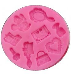 Molde silicona cosmeticos de Minnie Mouse