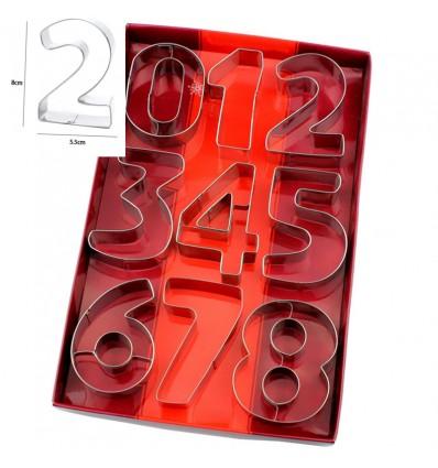 Set de cortadores números (8cm)