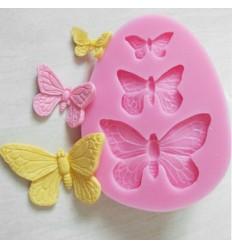 Molde silicona mariposa, tres tamaños