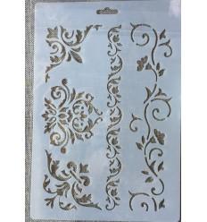 Plantilla Stencil Barroco